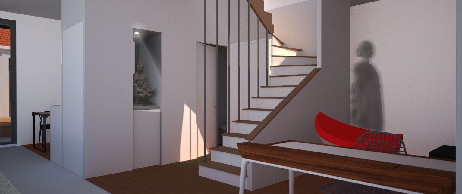 Ubik architectes r novation maison fouras 17 - Renovation petite maison de ville ...