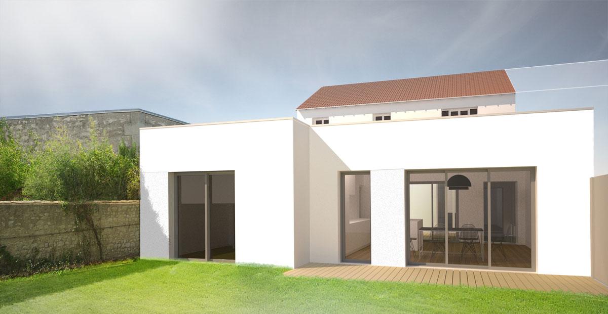 ubik architectes extension c la rochelle 17. Black Bedroom Furniture Sets. Home Design Ideas