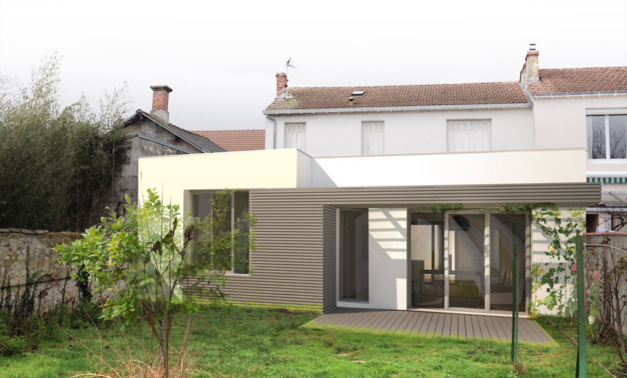 Ubik architectes extension c la rochelle 17 for Extension maison 17