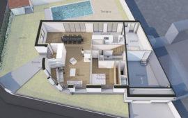 Extension par surélévation et rénovation d'une maison à La Rochelle