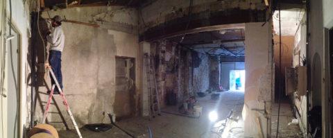 UBIK architectes - aménagement boutique Pandora - La Rochelle - Novembre 2016 - travaux de démolition