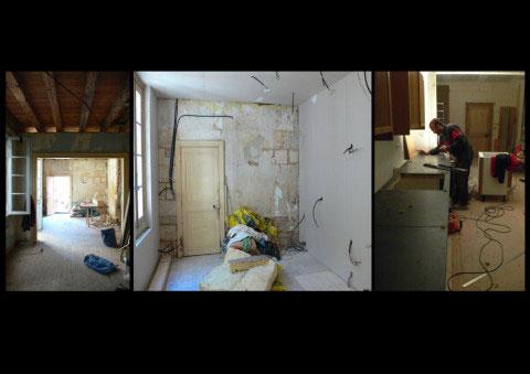 Maison ancienne UH, vues du chantier de rénovation - Rochefort-sur-Mer