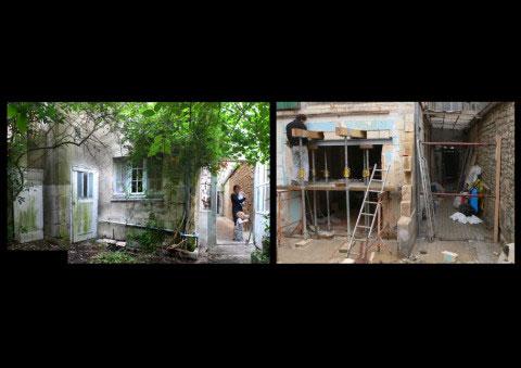 Maison ancienne UH, création d'ouverture, traitement des extérieurs - Rochefort-sur-Mer