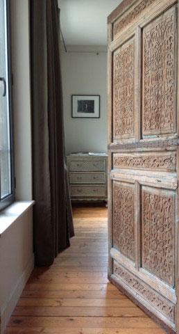 Maison ancienne UH, entrée de la chambre de maître - Rochefort-sur-Mer