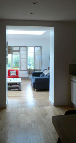 Maison B, extension vue depuis la cuisine - La Rochelle