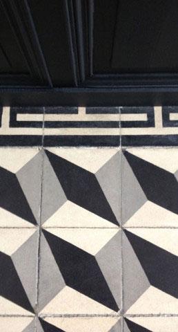 Maison ancienne UH - Sol en carreaux de ciment