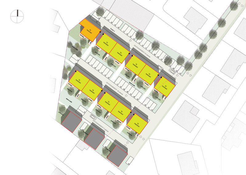 22 logements collectifs et 3 maisons 17 - Plan de masse maison individuelle ...
