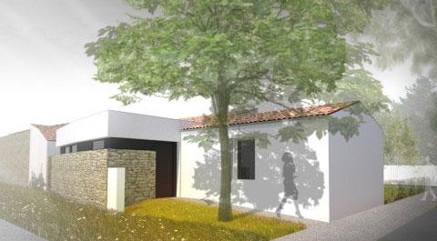 2 maisons à Marennes - zoom sur l'entrée d'une maison