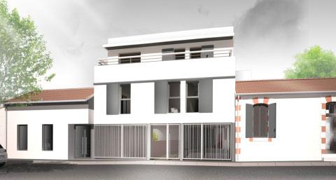Projet d'architecte : construction d'un ensemble de 21 logements collectifs, et 2 commerces, à La Rochelle.