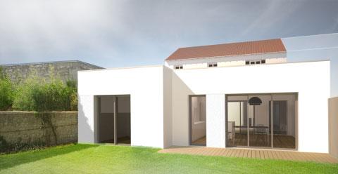 Extension et rénovation d'une maison des années 50 à la Rochelle